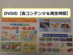 DVDの【コンテンツの構成&再生時間】について