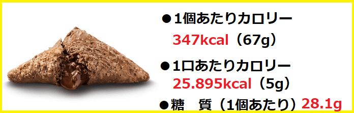 三角チョコパイ黒(単品)カロリー・糖質・栄養成分