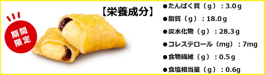 クリームブリュレパイの【栄養成分】