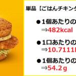 『(単品)ごはんチキンタツタ瀬戸内レモンタルタル 』の【カロリー&糖質】