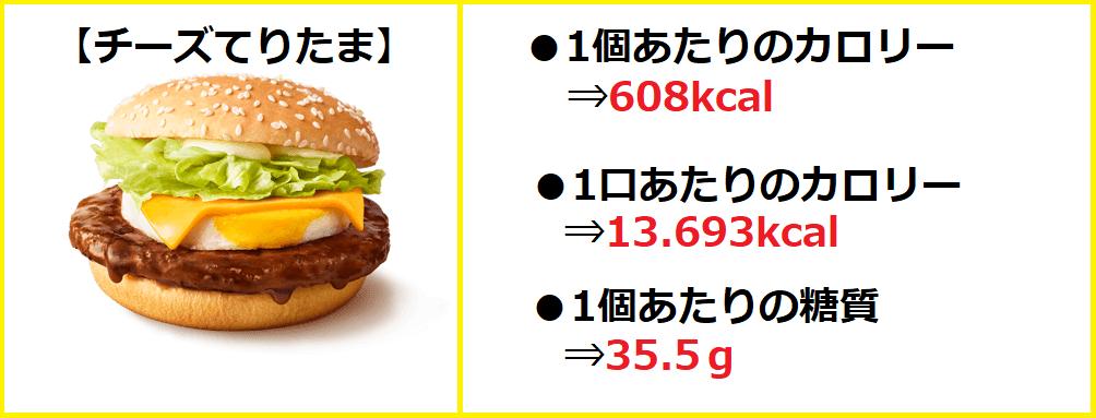 単品チーズてりたま【カロリー&糖質】